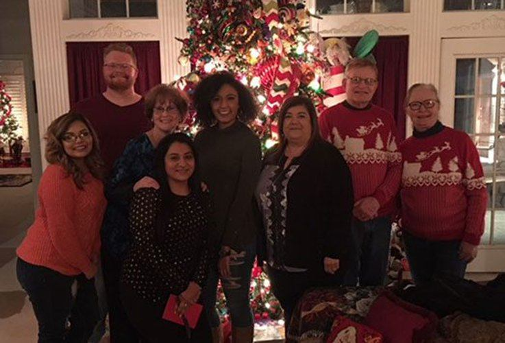 Boyles General Dentistry team in holiday sweaters