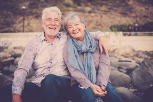 Smiling mature couple.